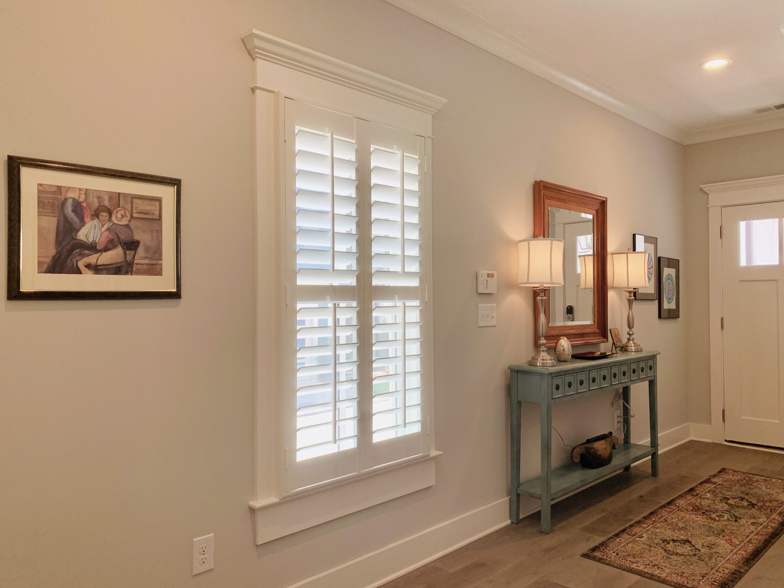 plantation shutters entry
