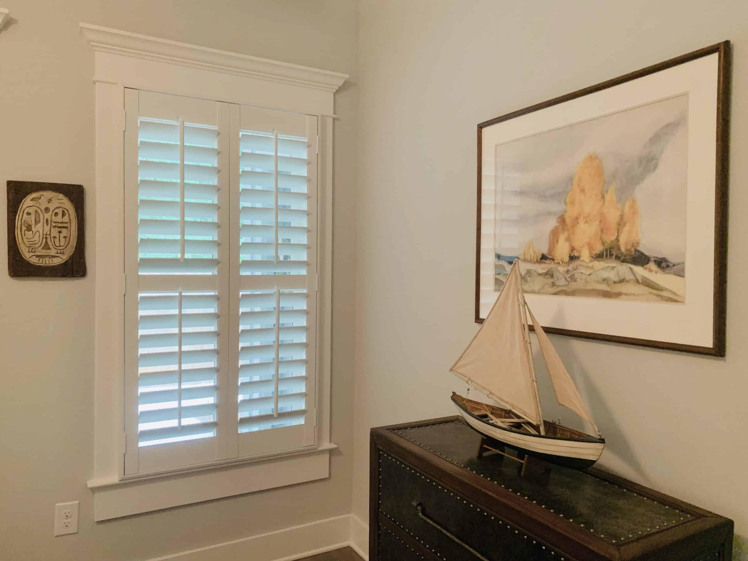 Plantation Shutters Guest Bedroom
