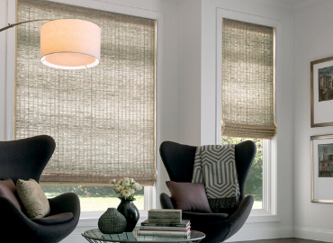 Privacy-Lined Woven Shades