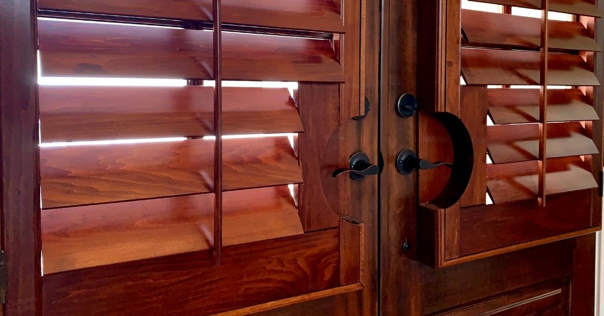 stained_plantation_shutter_door_acadia