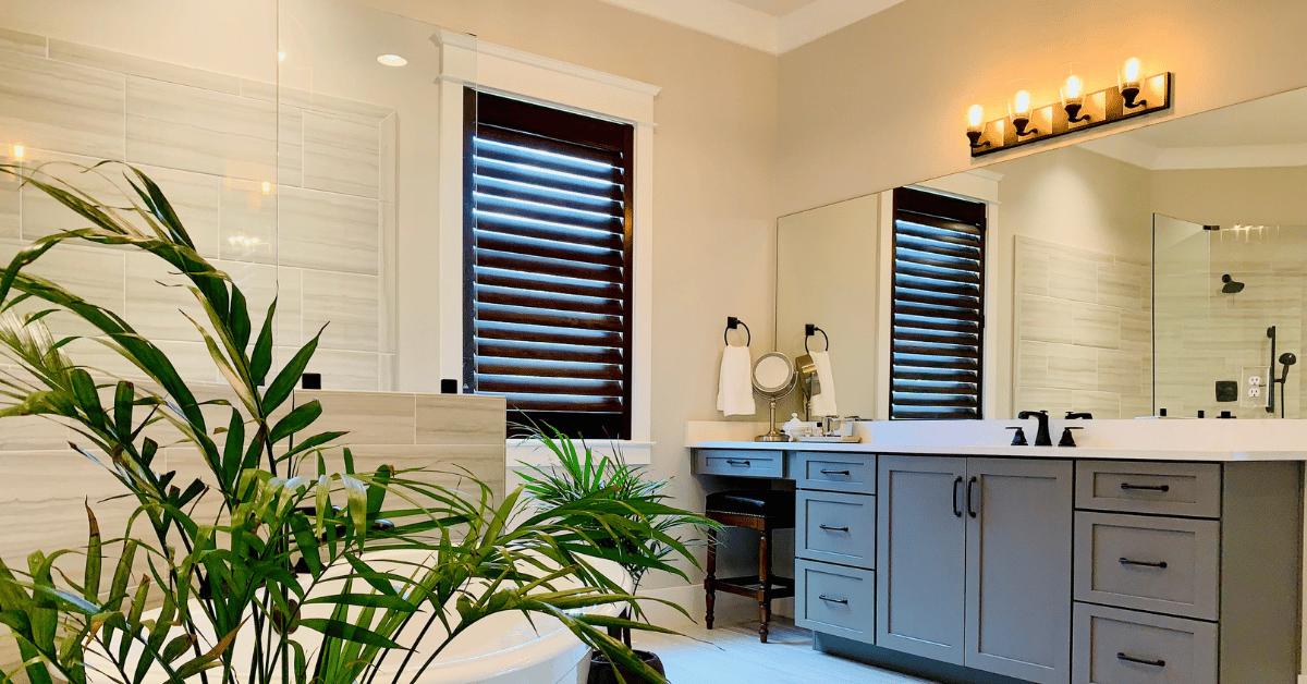 walnut_stained_plantation_shutters_bathroom